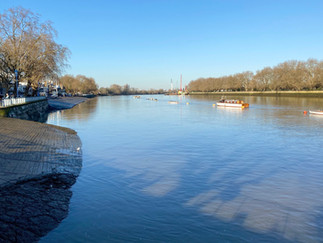 What a beautiful morning. Looking upstream from Putney Embankment