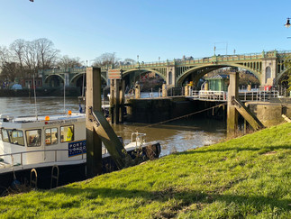 Richmond Lock. For most of the day all river traffic has to use the lock