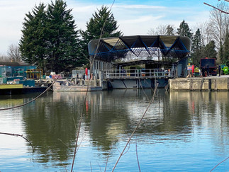 Boatyard on Sunbury Lock Ait