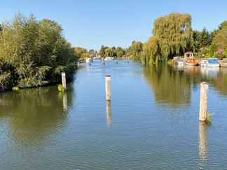 View upstream towards Benson Waterfront