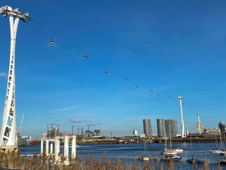 The Emirates Air Line cable car - connecting the Greenwich Peninsula with the Royal Docks