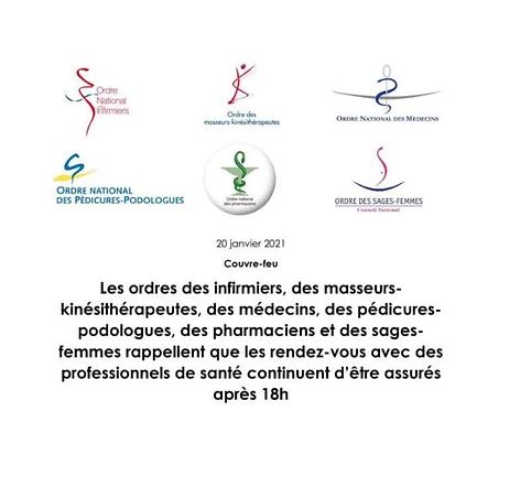 ACTUALITE COVID-19 & PROFESSIONNELS DE SANTE