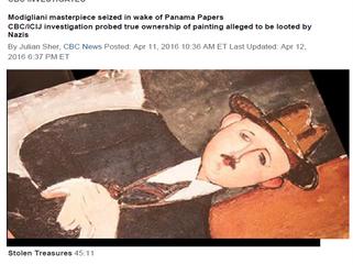 CBC INVESTIGATES - Modigliani masterpiece seized in wake of Panama Papers
