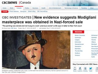 New evidence suggests Modigliani masterpiece was obtained in Nazi-forced sale