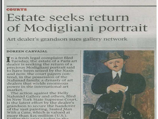 Estate Seeks return of Modigliani Portrait