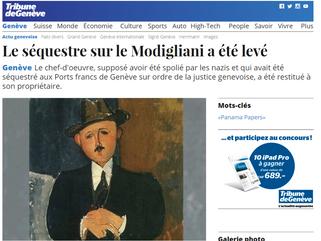 Le séquestre sur le Modigliani a été levé
