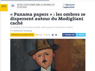 Panama papers: les ombres se dispersent autour du Modigliani caché
