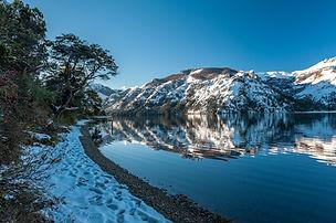 Lago Meliquina nieve