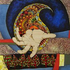 NELLA NOTTE PERSIANA - Samira Hosseinzadeh - Tecnica mista su tela - 60x50cm