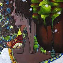 Sposa - Samira Hosseinzadeh - Olio su tela 60x60cm