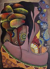 Nell'Ora - Samira Hosseinzadeh - Oilio su tela - 70x50