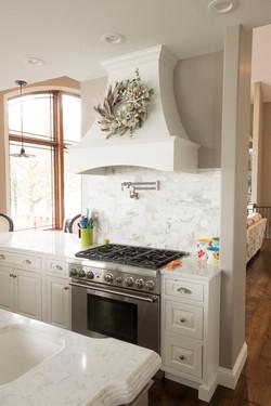 Chimney hood inset cabinet doors