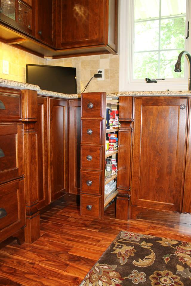 Customized Cabinets Spice Pull