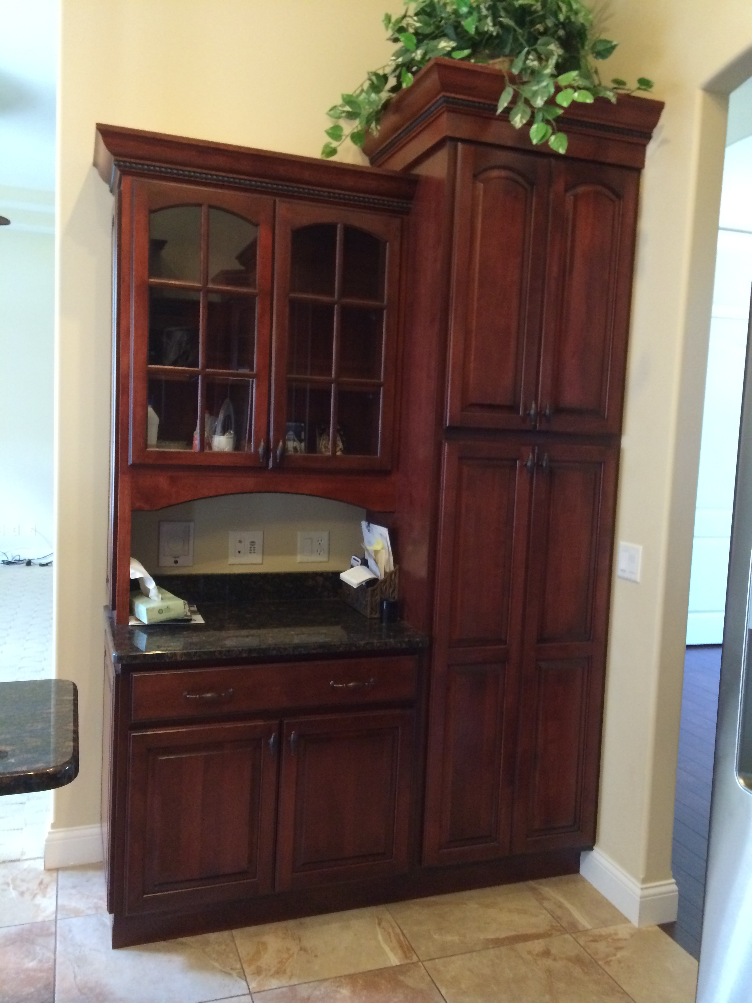 Custom Pantry and Hutch Cabinets