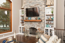Built in around fireplace