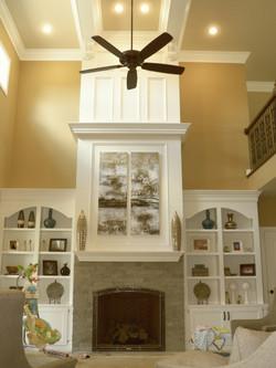 Bookcase & Fireplace Mantel