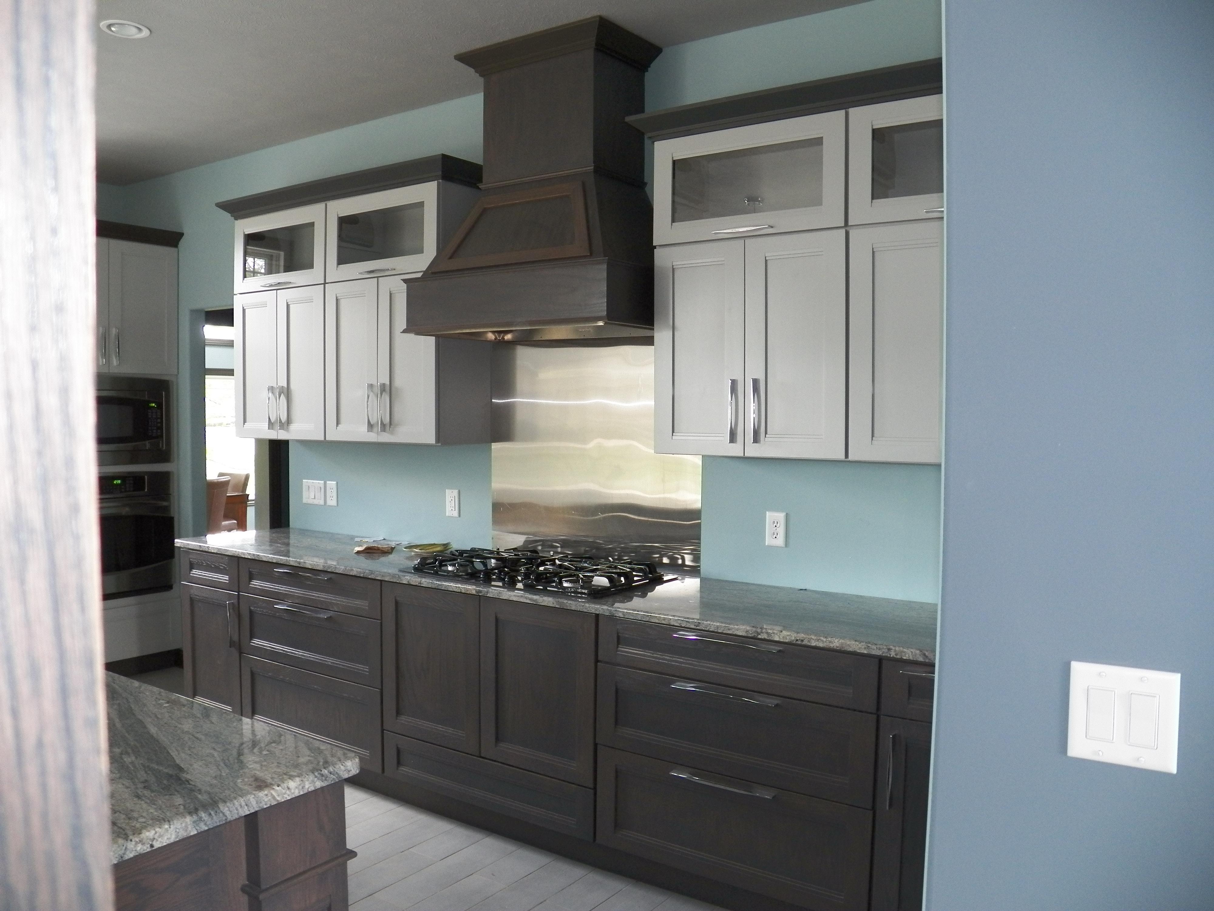 Custom Cabinets Gray Tones
