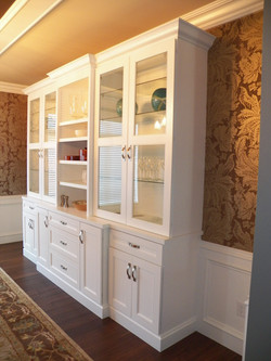 Customized Hutch Painted White