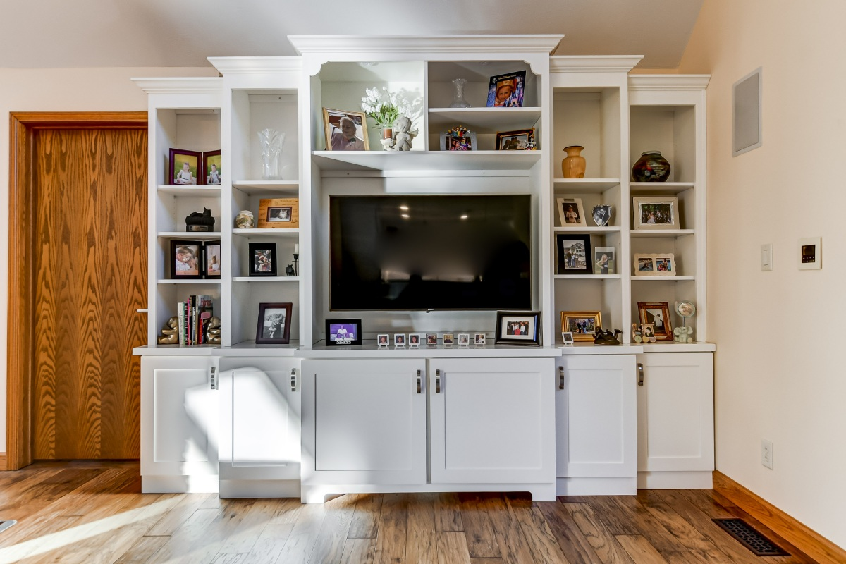Entertainment Center Painted White