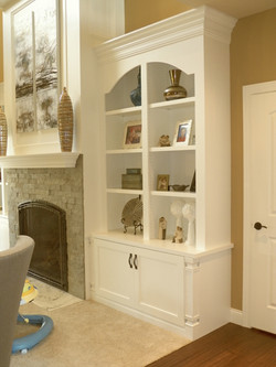 Built In Bookcase and Mantel