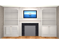Entertainment and Fireplace Wall