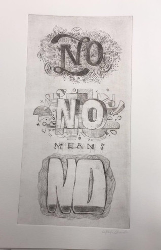 words of power intaglio copper plate