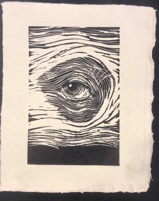 eye linoleum relief