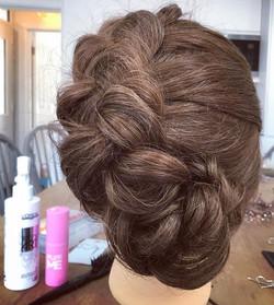 Mega bridal braids.