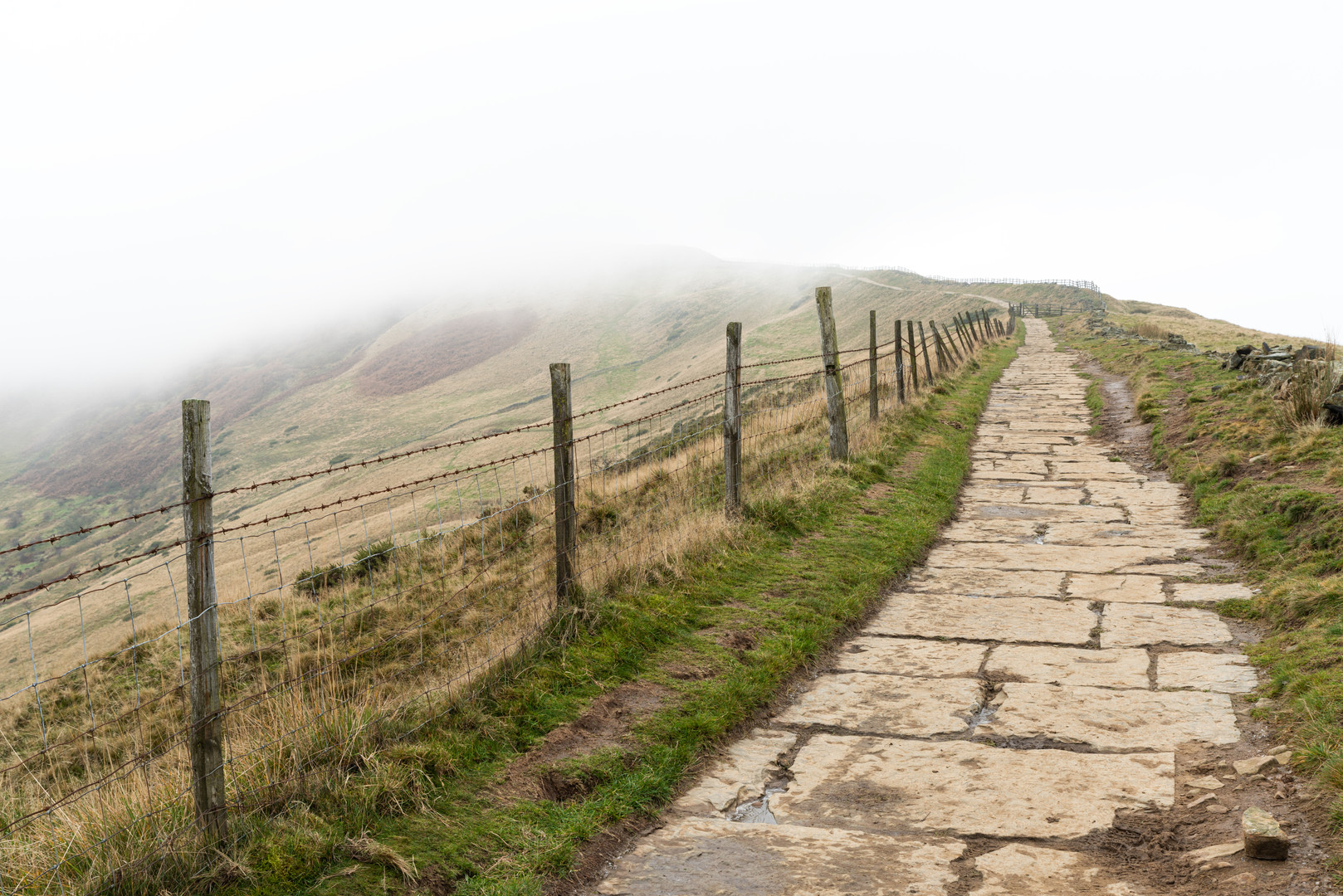 Fog Over the Great Ridge, Peak District, England
