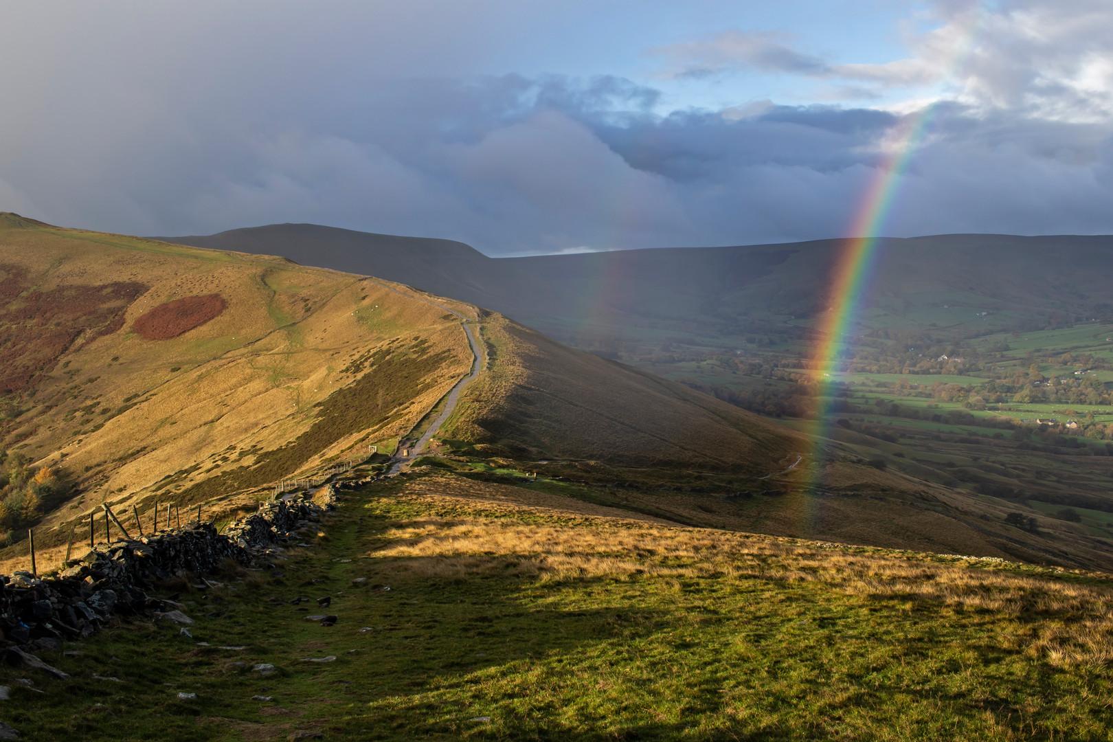 Rainbow Over the Great Ridge, Peak District, England