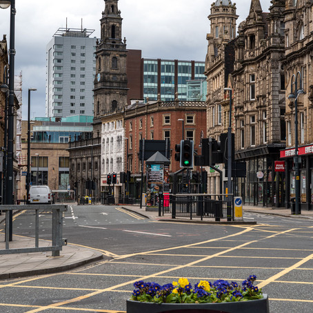 Empty Streets of Leeds City Centre During the Lockdown, March-April 2020