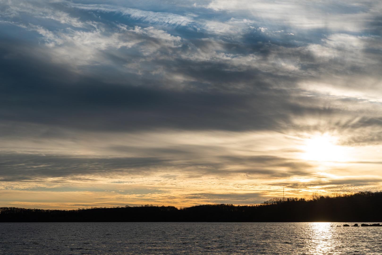 Sunset Over Merrill Creek Reservoir, New Jersey