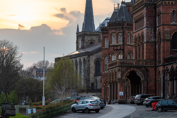 Leeds General Infirmary and St. George's Church, Leeds, West Yorkshire