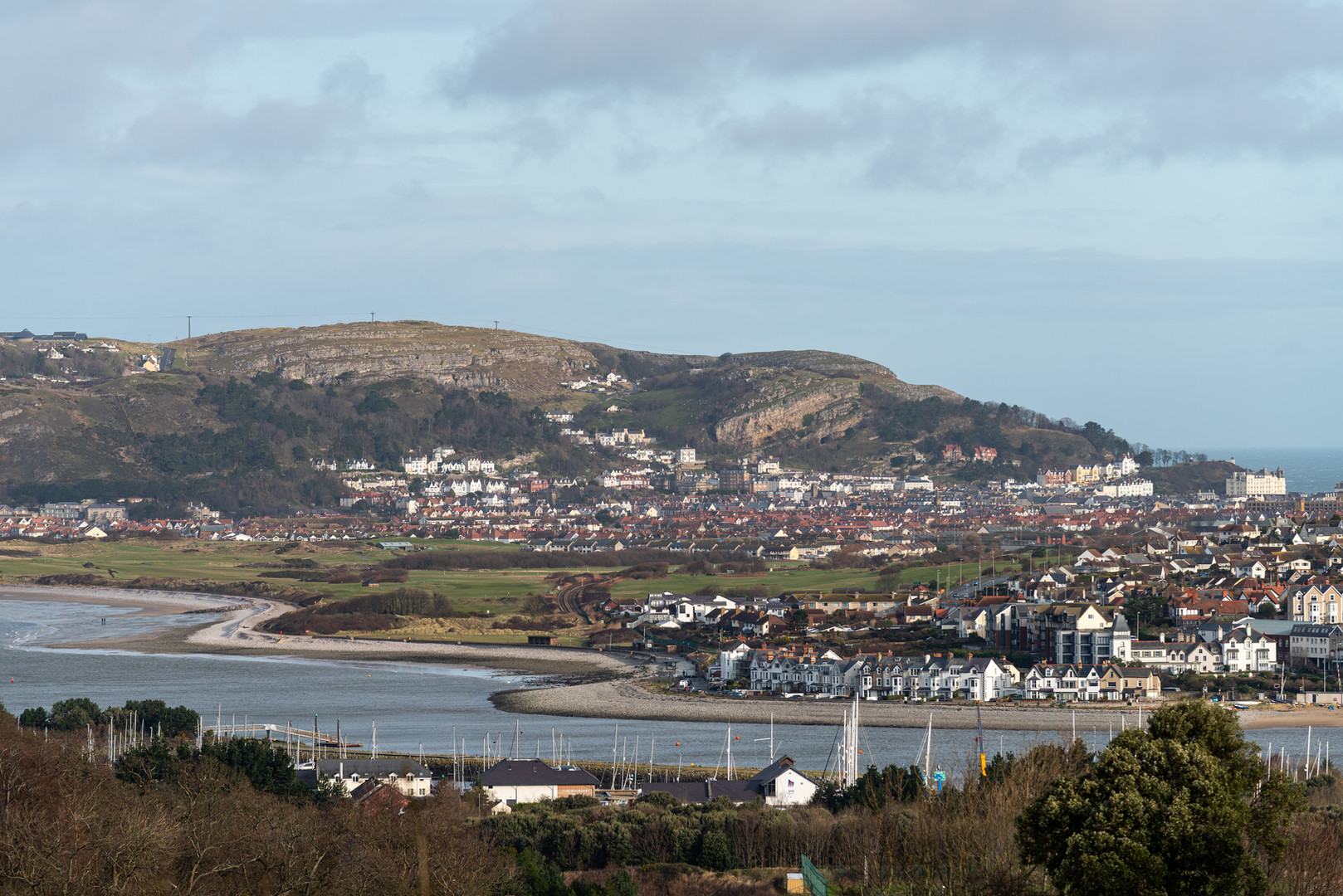 View of Llandudno Junction from YHA Conwy, Wales