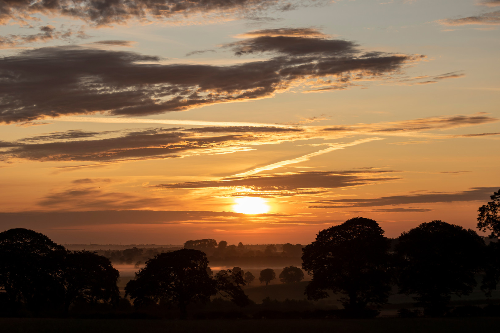 Late Summer Sunrise Along the England-Scotland Border