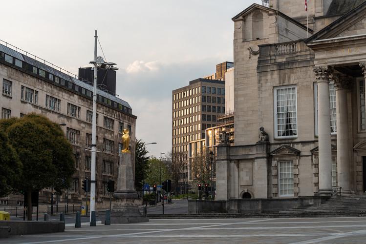 Millennium Square and Calverley Street, Leeds, West Yorkshire