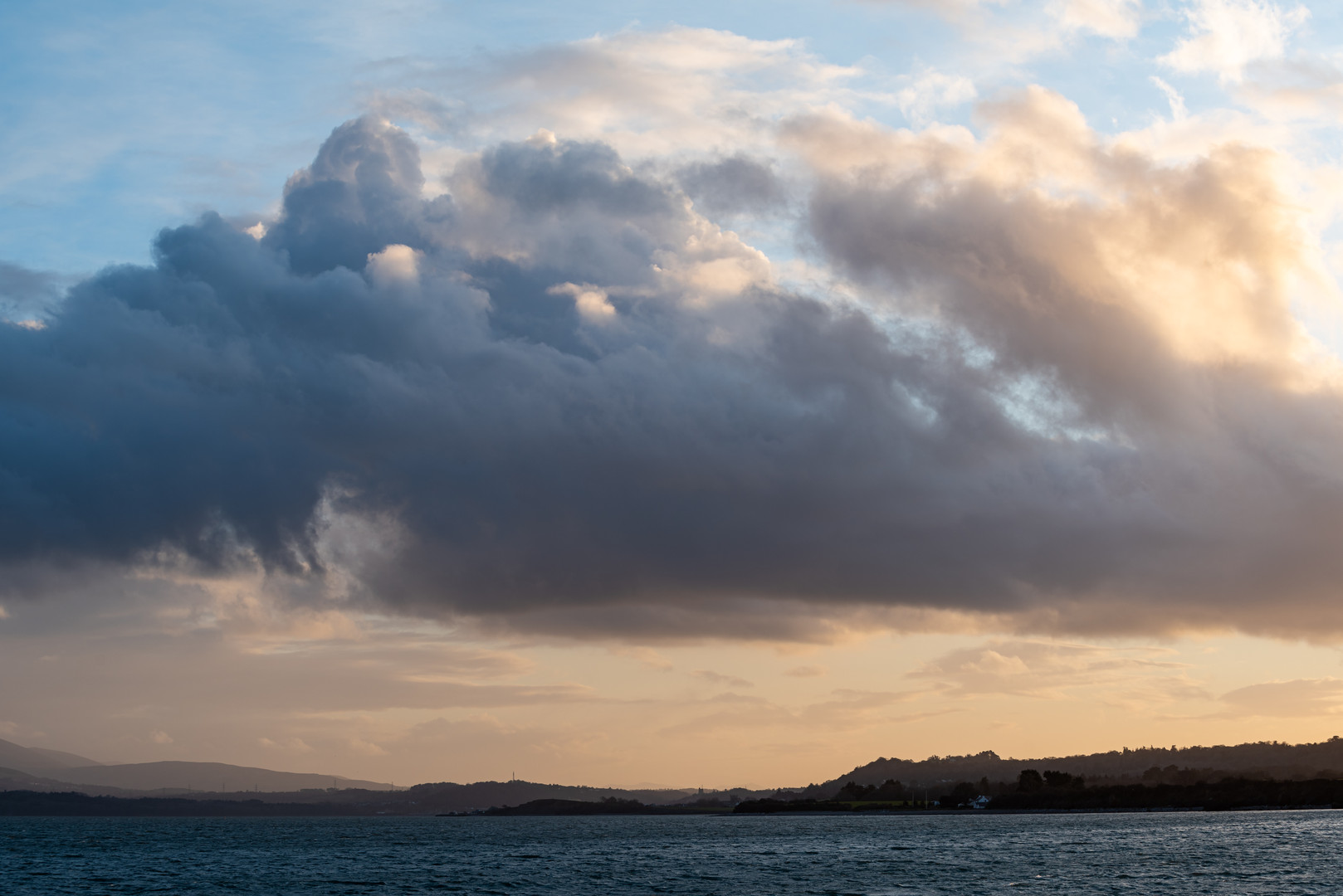 Sunset Over the Menai Strait from Penmon Point, Anglesey, Wales