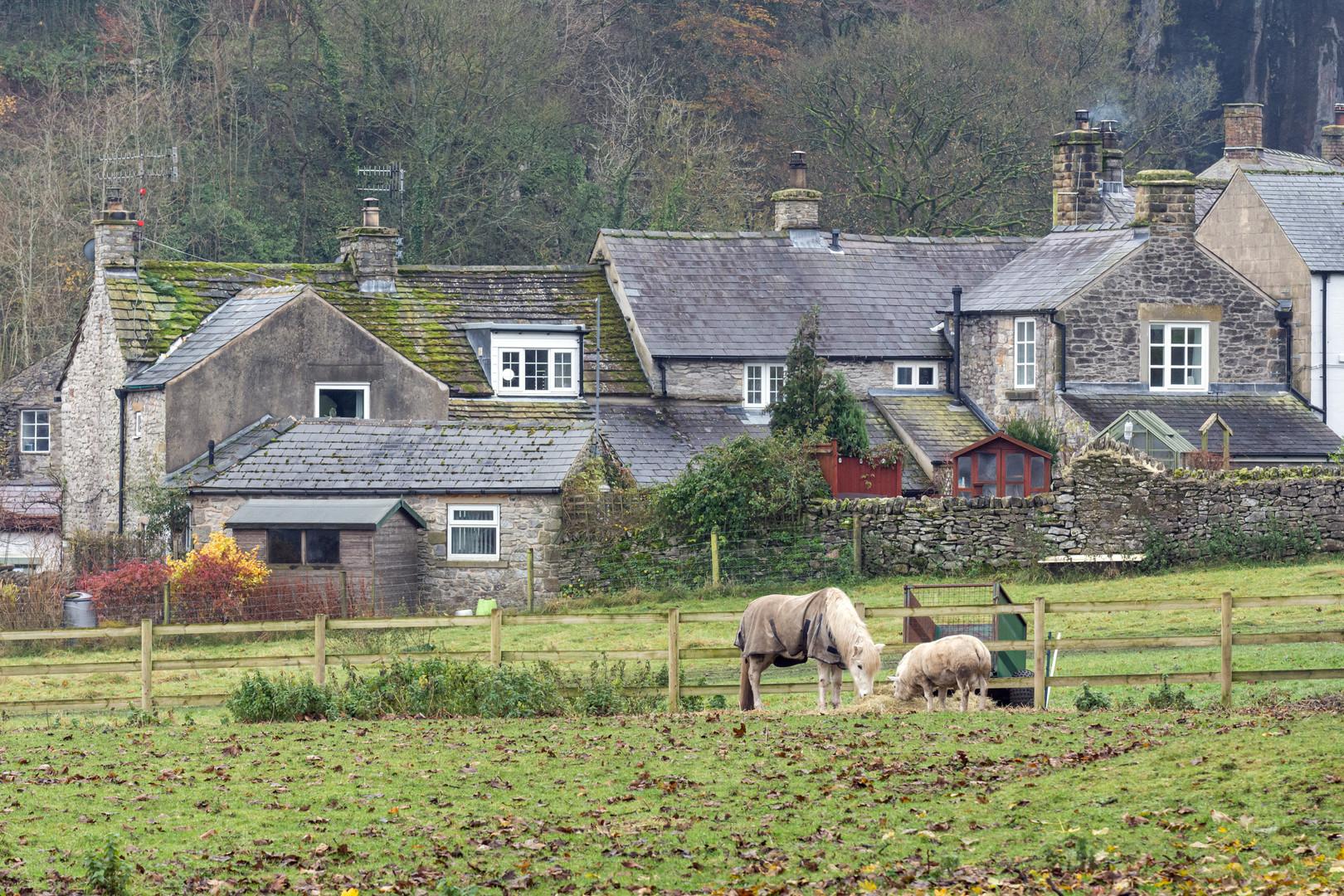 Scene from Castleton, Peak District, England