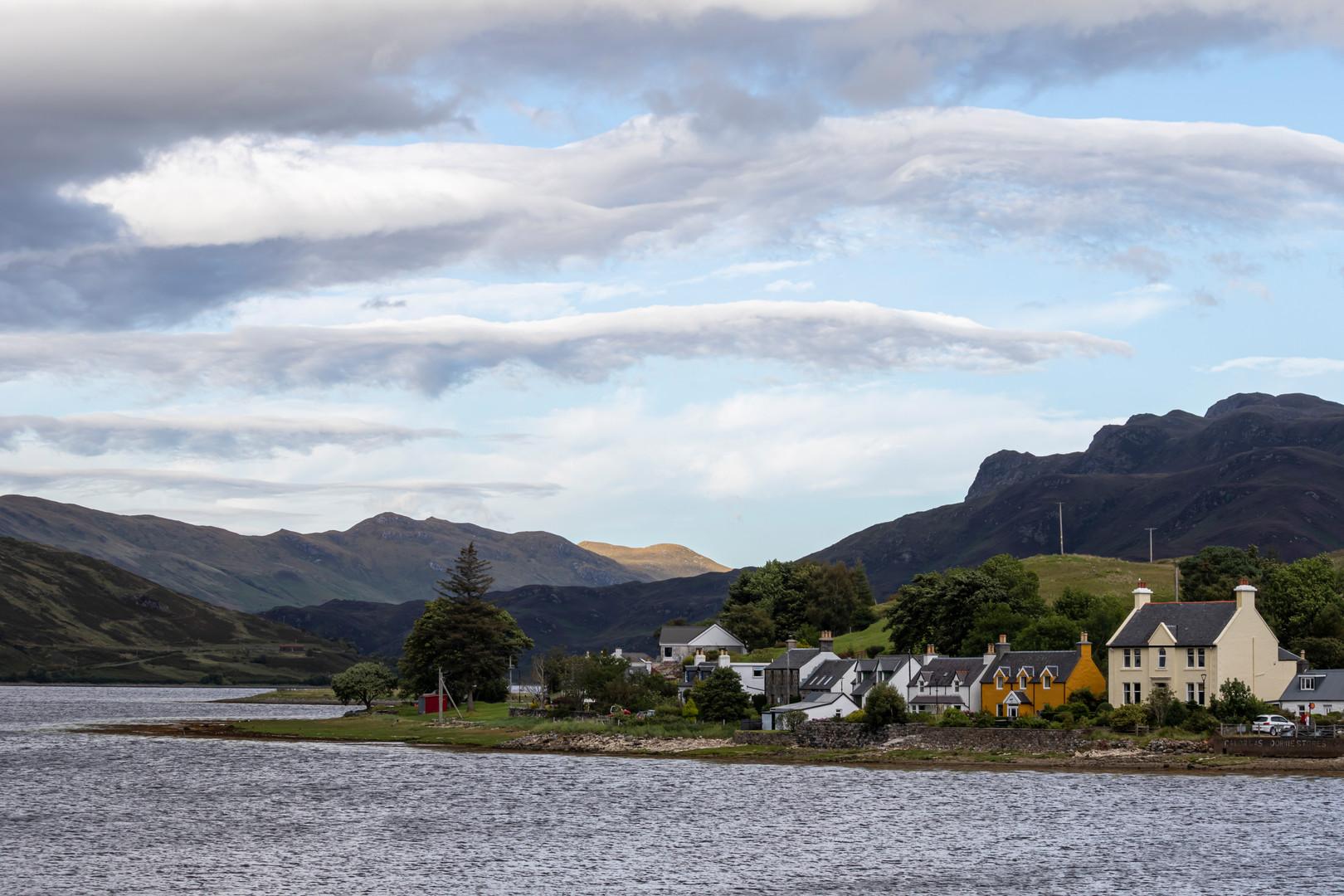 View of Dornie, Scotland from the A87 Bridge