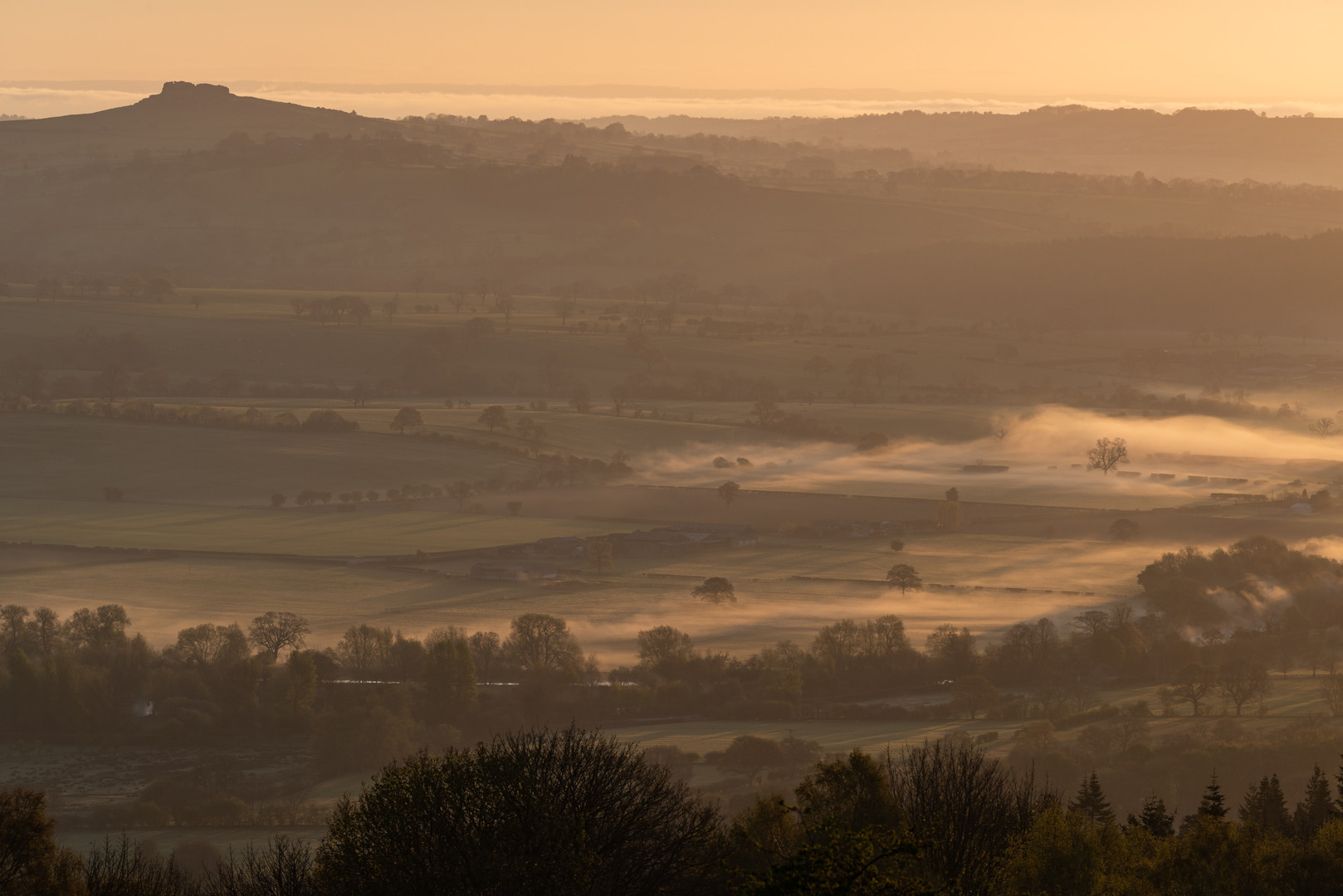 Waves of Fog at Sunrise, Otley, North Yorkshire