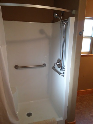 Downstairs stall shower