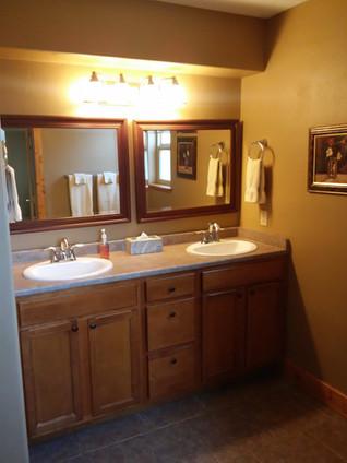 Downstairs jack & jill vanity
