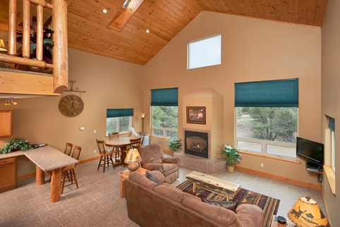 Cabin living and dining area