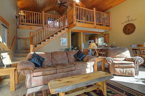 Living area and loft