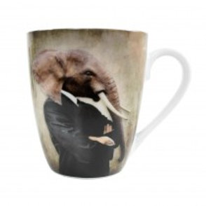 mug éléphant en porcelaine