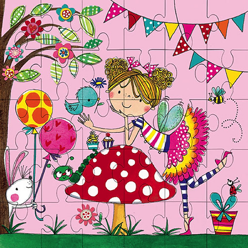 carte PUZZLE  17.5 x 17.5 cm LITTLE GIRL