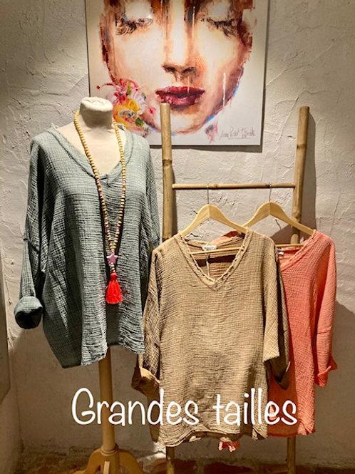 blouses en gaz de coton