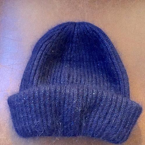 bonnet bleu marine pailleté