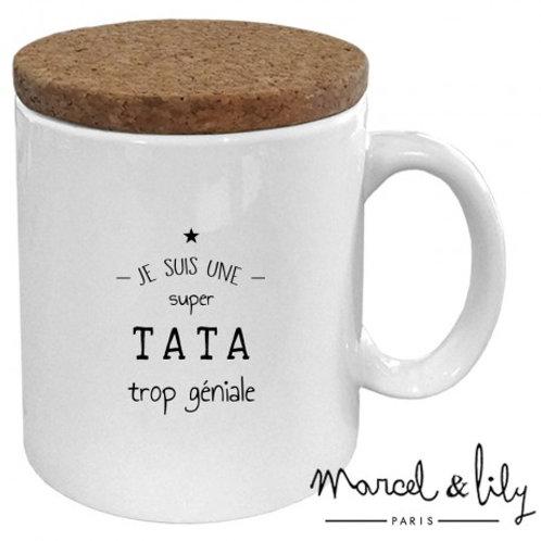 MUG avec son couvercle en liège Tata