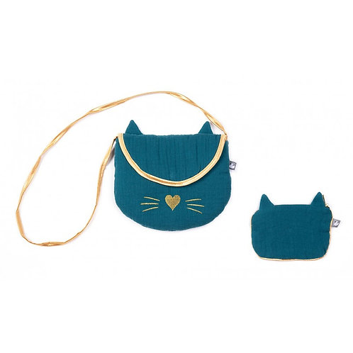 Ensemble sac et porte monnaie chat